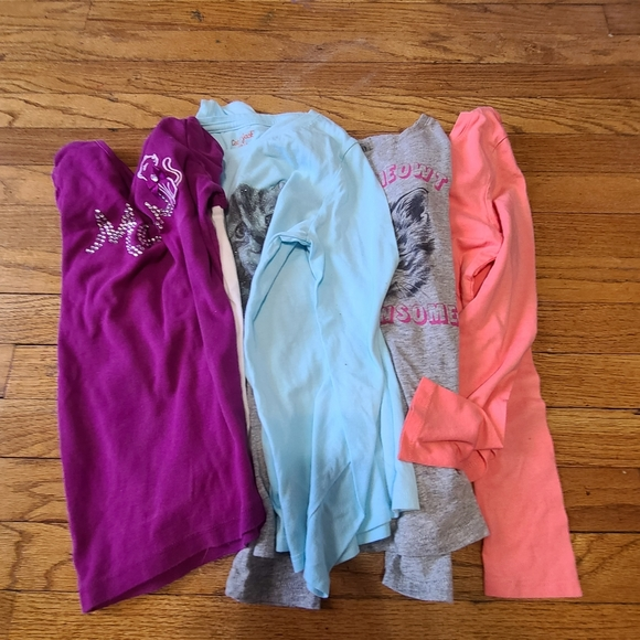 Set of 4 girls long sleeved t shirts